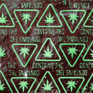 Hard Candy with THC Massachusetts Universal Symbol High Heat Transfers