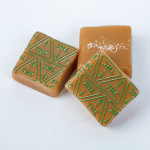 Caramels with THC! Nevada Universal Symbol High Heat Transfers