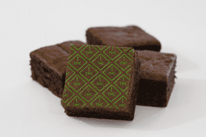 Brownie marked with Colorado THC Symbol Baking Sheets
