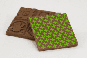 Chocolate marked with Green Cross Transfers