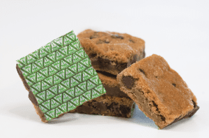 Cookie Bar marked with Nevada THC Symbol Baking Sheets