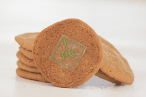 Cookie marked with Colorado Universal THC Symbol