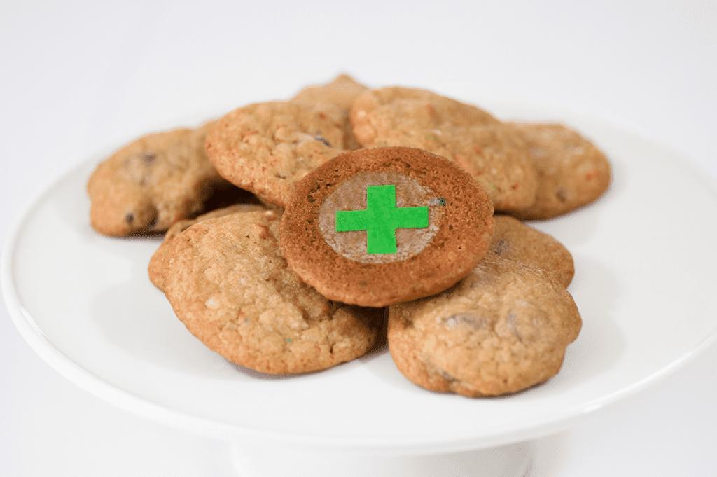 Green Cross Target for Cannabis Edibles