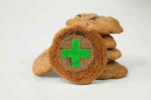 Green Cross Target for Marijuana Edibles