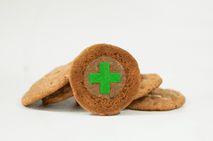 Green Cross Target for Edibles