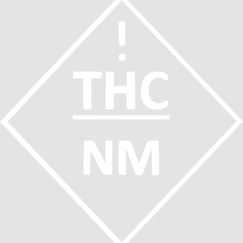 new mexico's universal thc symbol for cannabis edibles in white