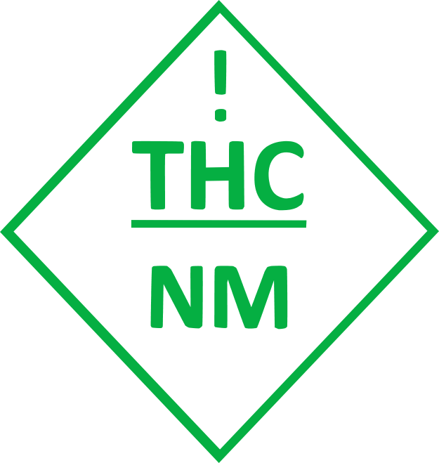 new mexico universal thc symbol for cannabis edibles in green