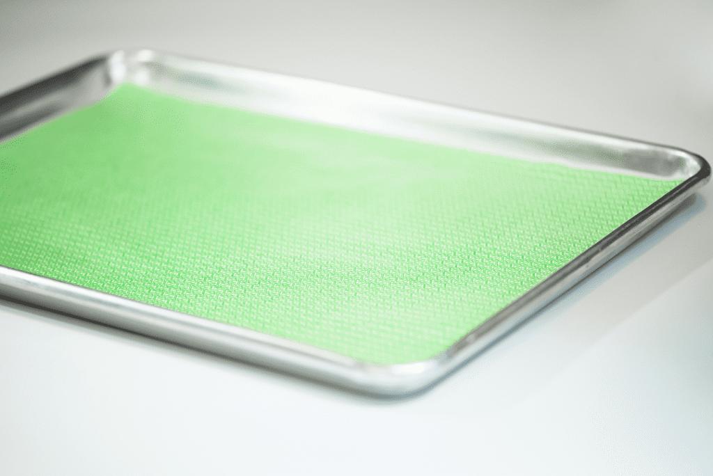 Nevada THC sheets on baking tray