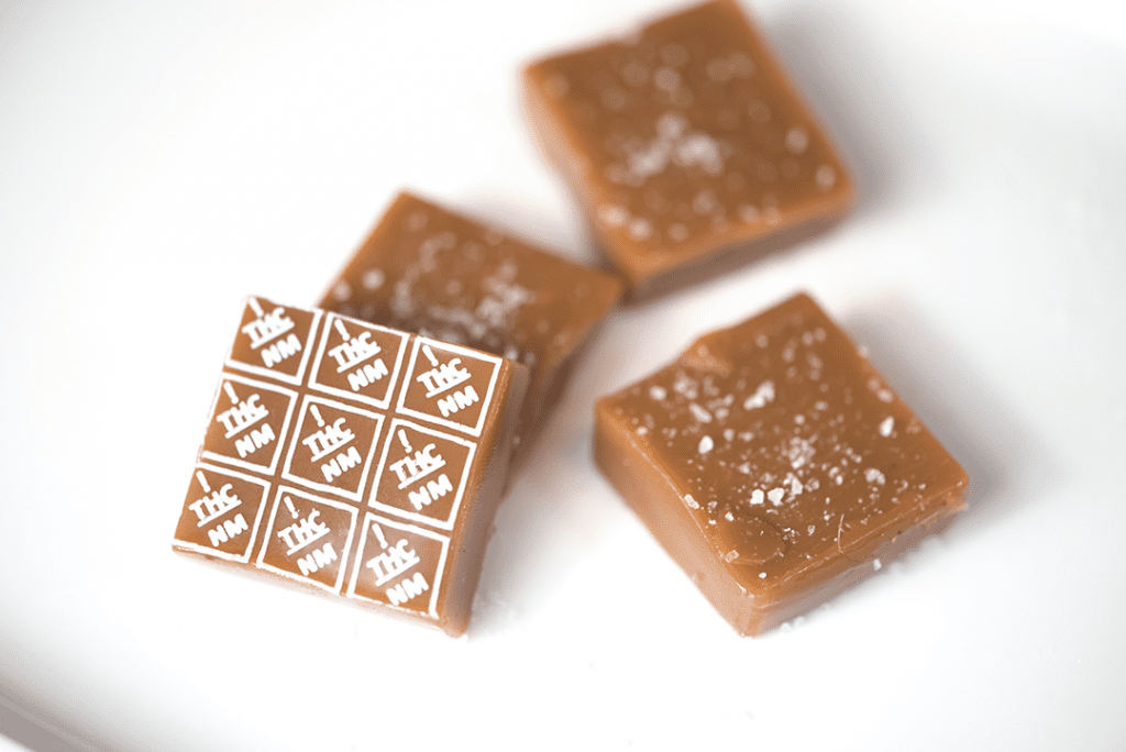 New Mexico THC symbol high heat transfers on caramels